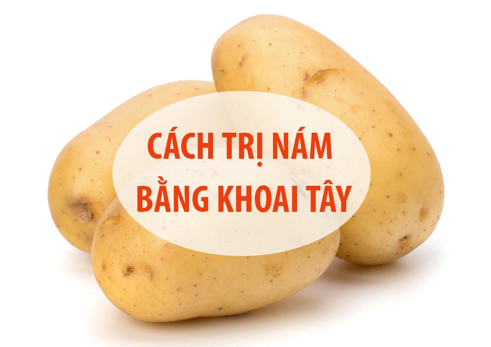 khoai tây trị nám